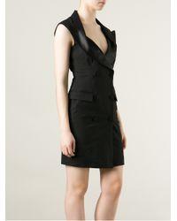 Jean Paul Gaultier - Black Tuxedo Style Dress - Lyst