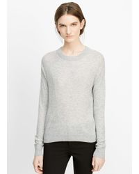 Vince - Gray Super Lightweight Crew Neck Sweater - Lyst