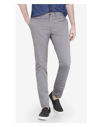 Express Skinny Gray Hayden Chino Pant for men