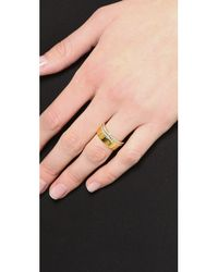 Vita Fede - Metallic Mini Crystal Cigar Band - Gold/Clear - Lyst