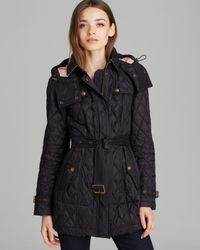 Burberry Black Finsbridge Long Quilted Coat