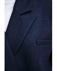 Carin Wester Blue Babel Heavy Melton Coat In Oak
