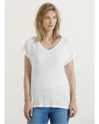 Violeta by Mango Natural Flowy T-shirt