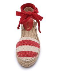 Splendid - Eveleigh Striped Espadrilles - Red - Lyst