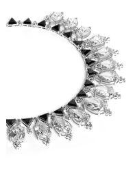 CZ by Kenneth Jay Lane | Metallic Pear Cut Droplet Cubic Zirconia Necklace | Lyst
