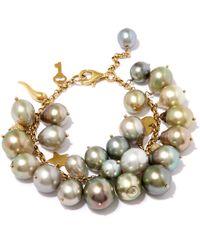 Kojis - Multicolor Multicolour Tahitian Pearl Charm Bracelet - Lyst