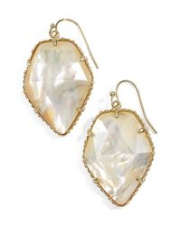 Kendra Scott - Metallic 'corley' Faceted Stone Drop Earrings - Lyst