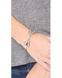 kate spade new york Metallic Skinny Mini Bow Bangle Bracelet