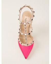 Valentino - Pink 'Rockstud' Pump - Lyst
