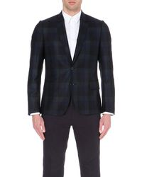Paul Smith | Green Wide-checked Soho-fit Wool Jacket for Men | Lyst