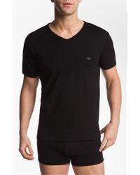 Emporio Armani Gray 3-pack T-shirt, Black for men