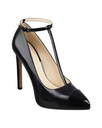 Nine West | Black Lavish T-strap Pumps | Lyst