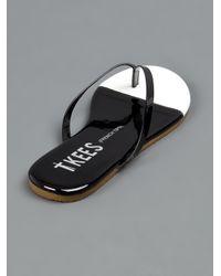 TKEES Black Bi-tone Flip Flop
