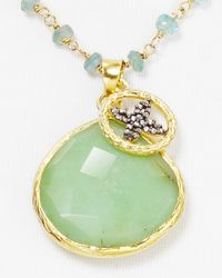 Coralia Leets Green Chrysoprase Pendant Necklace 27