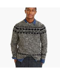 J.Crew | Black Italian Wool Fair Isle Sweater for Men | Lyst
