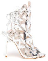 Sophia Webster Mila Metallic Leather Sandals