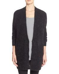 Eileen Fisher | Gray Long V-neck Cardigan | Lyst