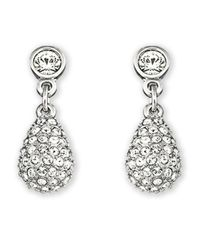 Swarovski | Metallic Heloise Crystal Pav?? Teardrop Earrings | Lyst