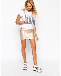 ASOS White Cropped T-shirt With C