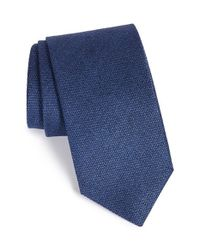 John W. Nordstrom | Blue 'vincent' Solid Silk Tie for Men | Lyst