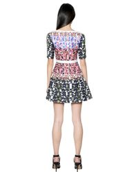 Peter Pilotto Pink Natalie Waffle Silk Dress