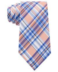 Tommy Hilfiger - Orange Oxford Tartan Tie for Men - Lyst