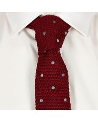 River Island | Red Polka Dot Knitted Tie for Men | Lyst