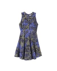 Rebecca Taylor | Blue Flame Of The Forest Print Dress | Lyst
