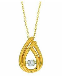 Tia Collections - Red 0.12ct. Dancing Diamond Pendant-14kt - Lyst
