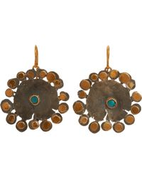 Judy Geib | Metallic Flowery Drop Earrings Size Os | Lyst