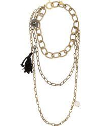 Lanvin Metallic Susan Gold-Tone, Swarovski Crystal And Faux Pearl Necklace