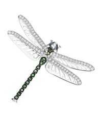 Theo Fennell Green Dragonfly Brooch