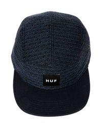Huf Blue The Belfort 5 Panel Hat for men