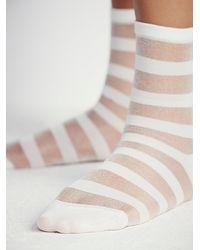 Free People - White Shine Womens Stripe Mono Anklet - Lyst