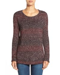 Sanctuary Purple 'northern' Open Stitch Detail Sweater