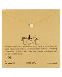 Dogeared Metallic Gold Filled Pearls Of Love Necklace
