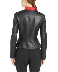 HUGO Black Leather Jacket: 'lorine'