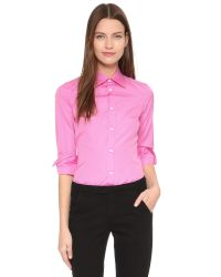 DSquared² - Pink Poplin Button Down - Lyst