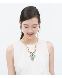 Zara | Multicolor Geometric Motif Necklace | Lyst