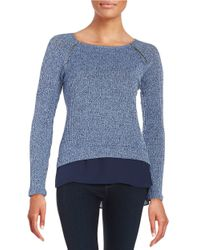 Lord & Taylor | Blue Layered-effect Knit Top | Lyst