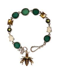 Lucky Brand - Metallic Twotone Set Stone and Bee Flex Bracelet - Lyst