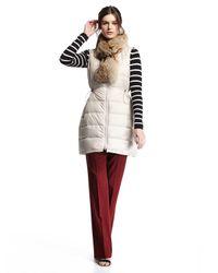 Theory | Natural Womira Lofty Fur-trim Down Vest | Lyst