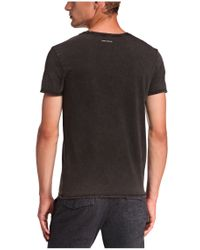BOSS Orange | Black T-shirt 'traverso' With A Round Neckline for Men | Lyst