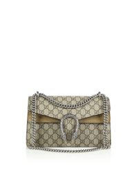 Gucci | Beige Dionysus Gg Supreme Small Coated Canvas Shoulder Bag | Lyst