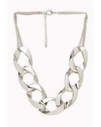 Forever 21 - Metallic Curb Link Chain Necklace - Lyst