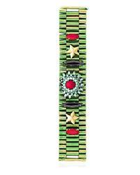 Iosselliani Green Full Metal Jewels Bracelet