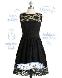 ModCloth   Black When The Night Comes Dress   Lyst