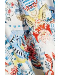 Temperley London Multicolor Pavan Printed Stretch-Cotton Skirt