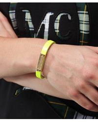 Marc Jacobs - Yellow Supply Leather Bracelet - Lyst