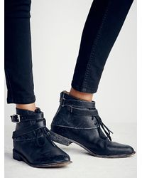 Free People | Black Faryl Robin + Womens Meray Lace Up Boot | Lyst